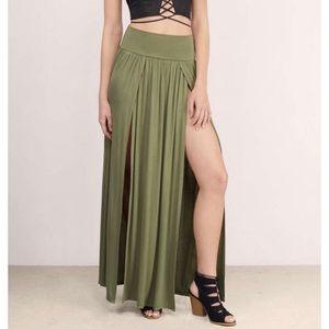 Tobi Double Slit Maxi Skirt